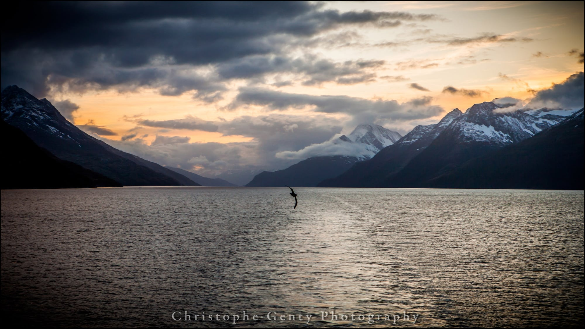 Sunrise on Tierra Del Fuego, Beagle Canal, Argentina - December 26, 2015