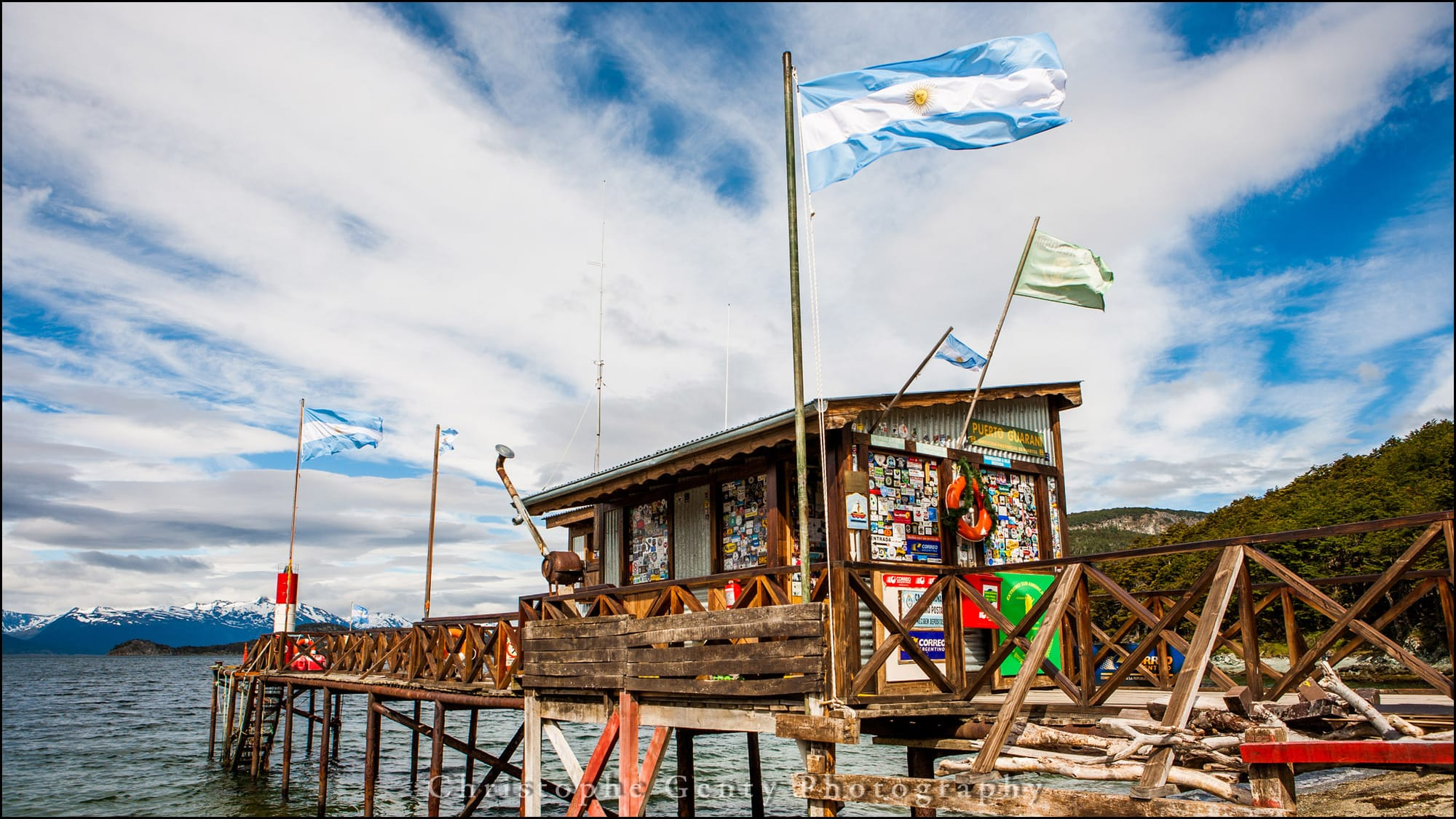 Argentina's southernmost  Post Office at Puerto Guarani Tierra del Fuego National Park, Argentina - December 2015