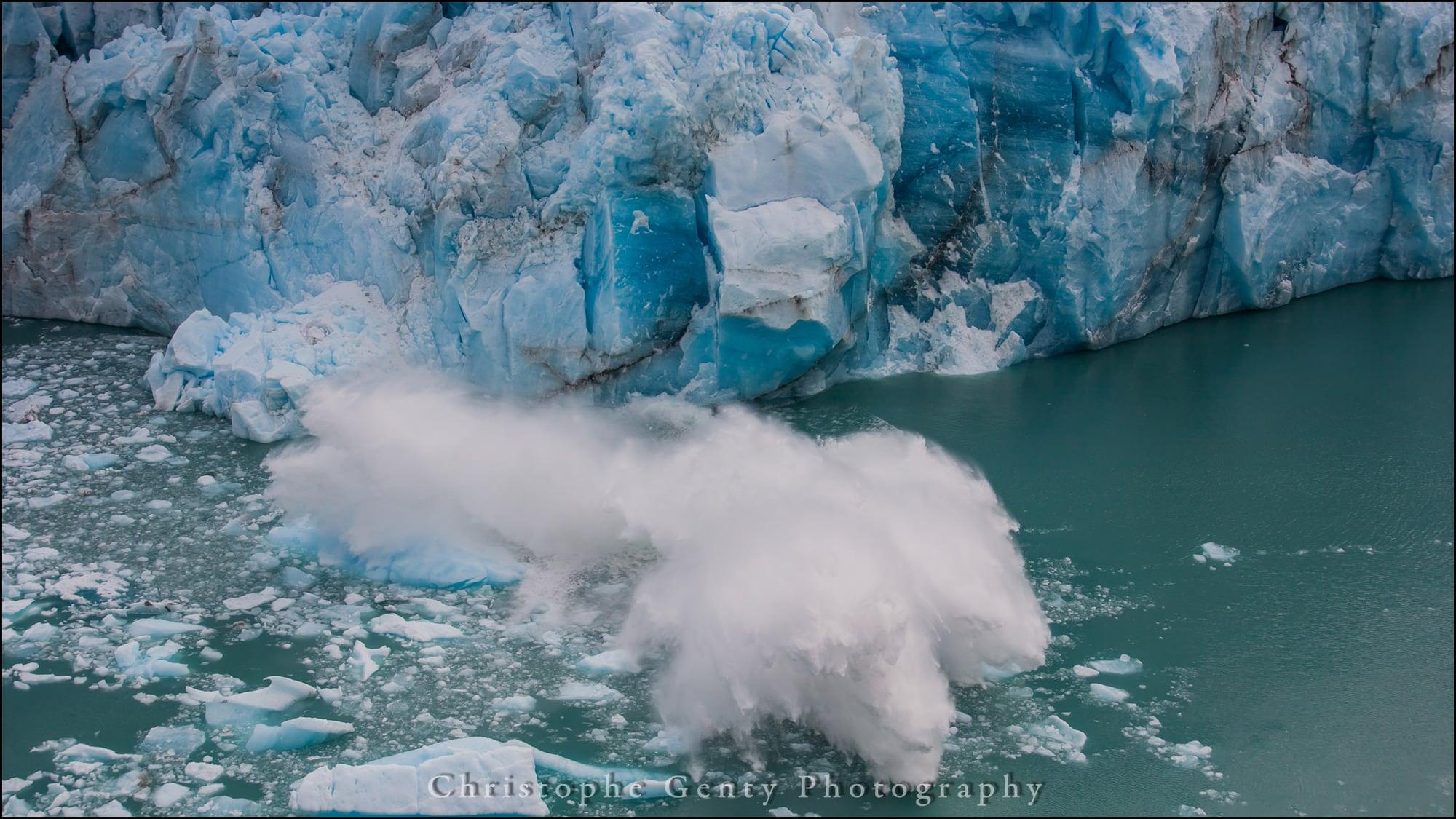Glacier calving Perito Moreno National Park, Argentina - December 2015